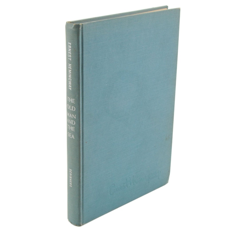 """First Edition """"The Old Man and the Sea"""" by Ernest Hemingway, 1952"""