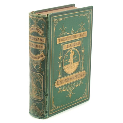 """Illustrated """"Twenty Thousand Leagues Under the Seas"""" by Jules Verne, 1873"""