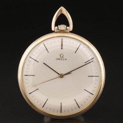 1970 Omega 10K Gold Filled Open Face Pocket Watch