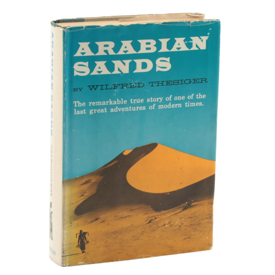 """First Edition """"Arabian Sands"""" by Wilfred Thesigner with Dust Jacket, 1959"""