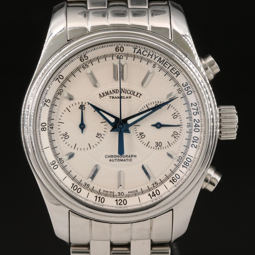 Armand Nicolet M02 Chronograph Stainless Steel Automatic Wristwatch