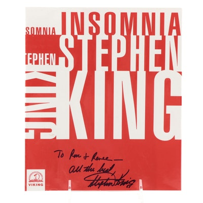 "Stephen King Signed ""Insomnia"" Dust Jacket, 1994"