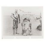 """Anthony Daniels """"C-3PO"""" Signed """"Star Wars"""" Robot Droid Photo Print"""