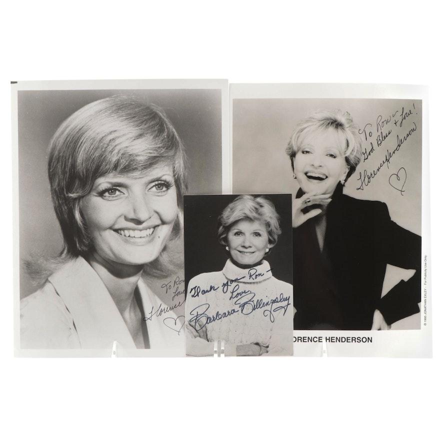 Florence Henderson and Barbara Billingsley Signed Television Moms Photo Prints