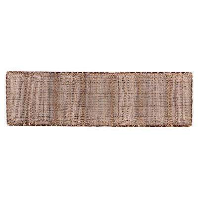 Textural Woven Rattan and Cane Decorative Wall Panel