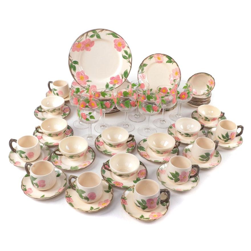 "Franciscan ""Desert Rose"" Ceramic Dinnerware Set, Mid to Late 20th Century"