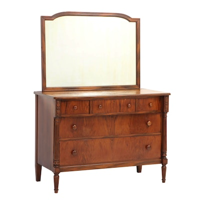 Classical Style Walnut Five-Drawer Dresser, Early 20th Century