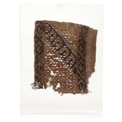 Egyptian Coptic Textile Fragment, 4th to 6th Century