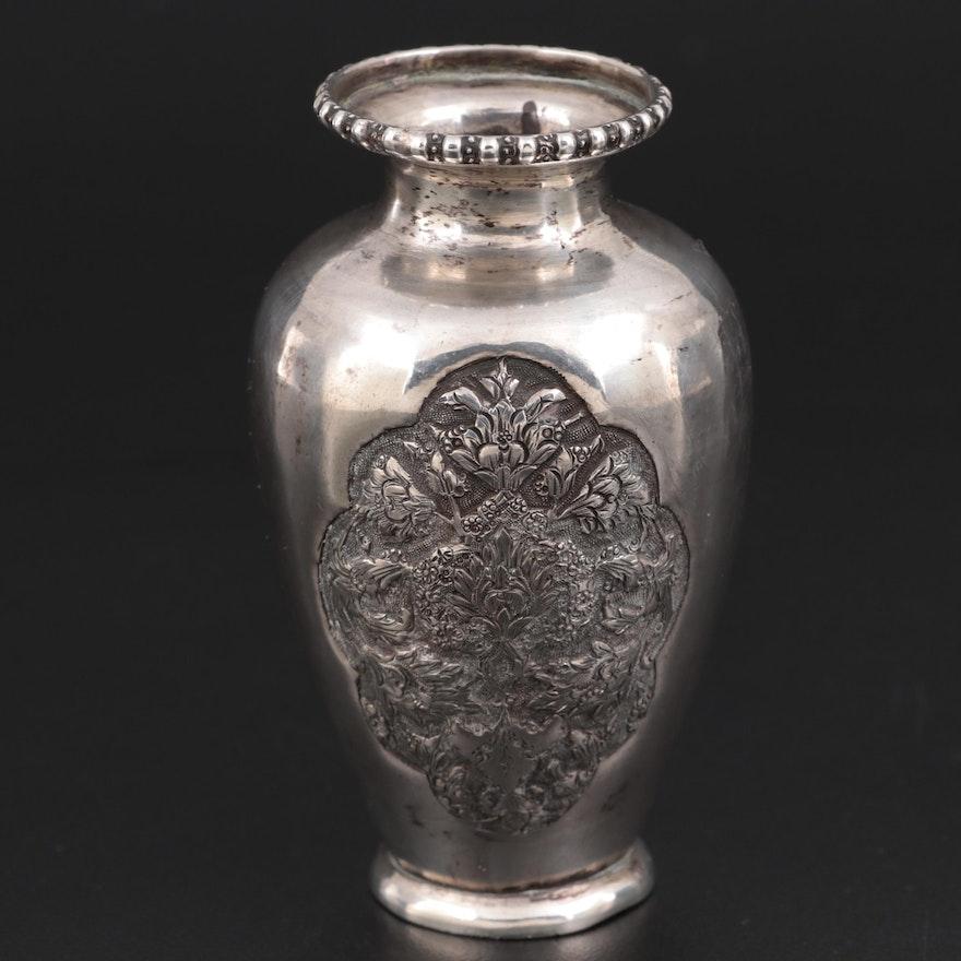 Arabic 875 Silver Bud Vase