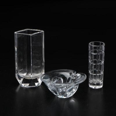 Ceska Crystal Vases and Ashtray