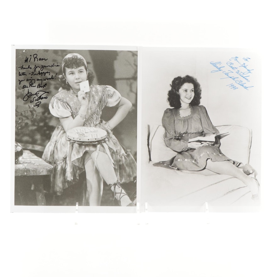Shirley Temple Black and Jane Withers Signed Child Stars Photo Prints