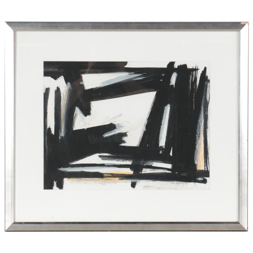 Abstract Expressionist Style Acrylic Painting, 1988