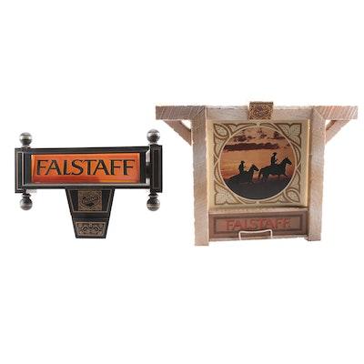 Falstaff Beer Illuminated Wall Signs, Mid-20th Century