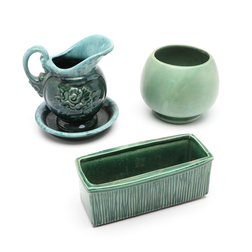 McCoy Pottery and Hull Ceramic Planters and Pitcher, Mid to Late 20th Century