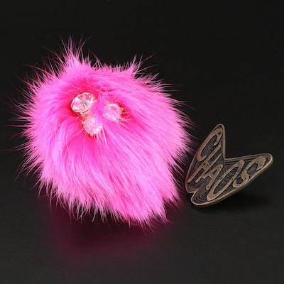 Vivienne Westwood Chaos Pin with Trina Turk Puff Brooch