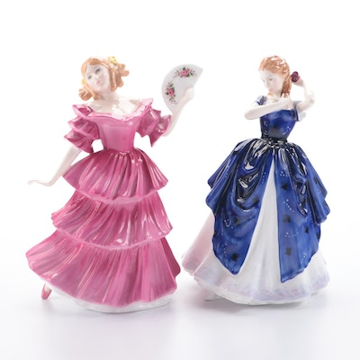 """Royal Doulton Figure of the Year 1994 """"Jennifer"""" and """"Laura"""" Figurines"""