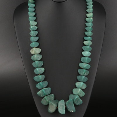 Glass and Bone Graduated Necklace