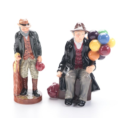 """Royal Doulton """"The Balloon Man"""" and """"The Gaffer"""" Figurines"""