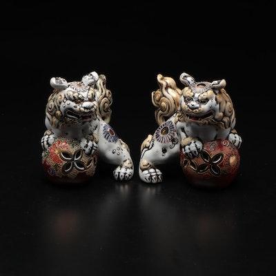 Ceramic Japanese Komainu Figurines