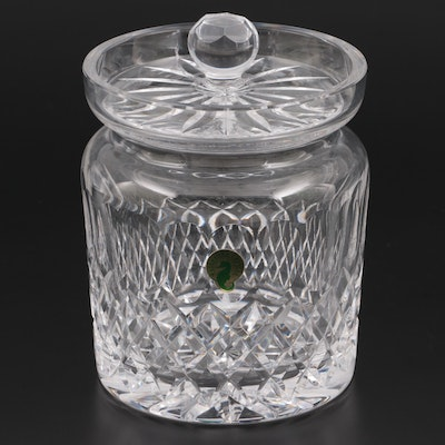 """Waterford """"Colleen"""" Cut Crystal Biscuit Barrel"""