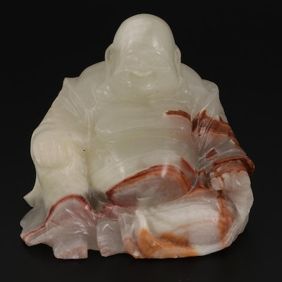 Chinese Style Carved Onyx Budai Figure