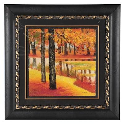 "David Najar Giclée ""Orange Paradise"""