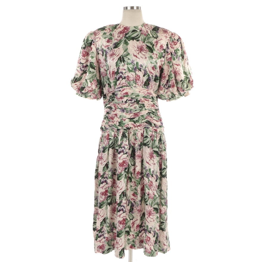 Maggy London by Jeannene Booher Occasion Dress in Floral Silk Jacquard