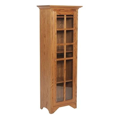 Amish-Made Oak Curio Cabinet