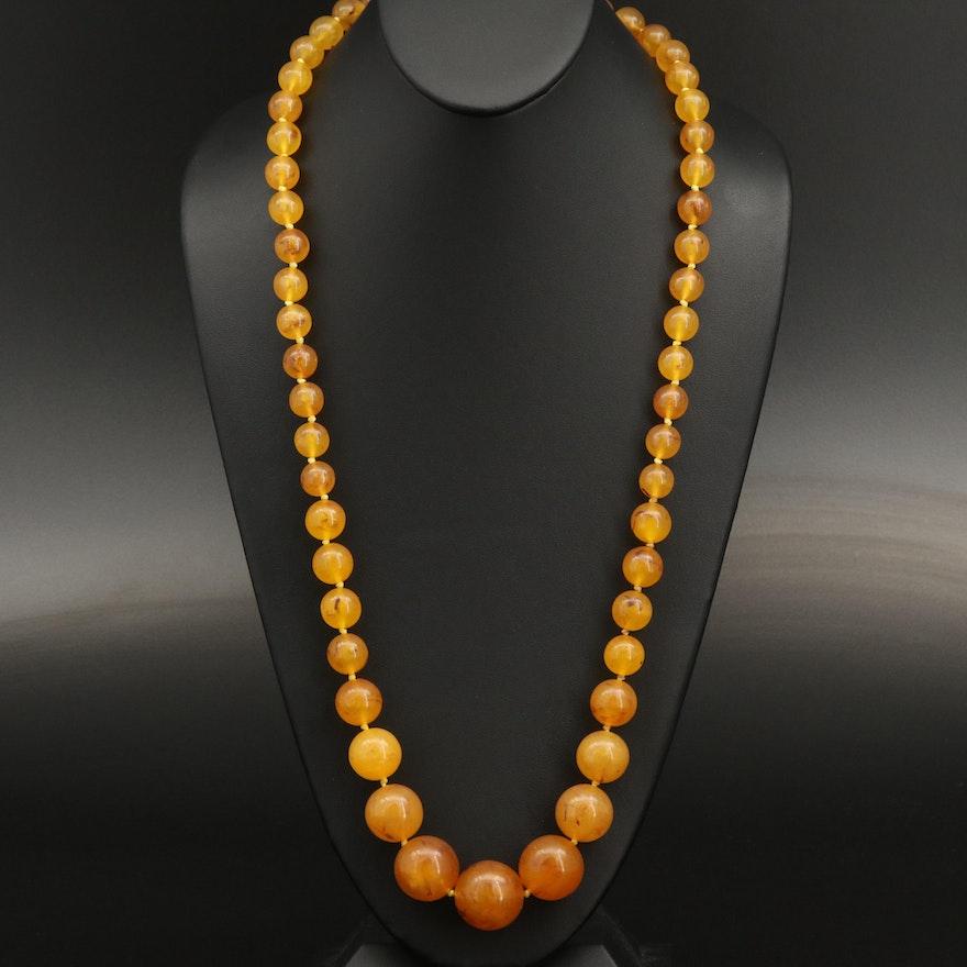 Graduaded Acrylic Beaded Necklace