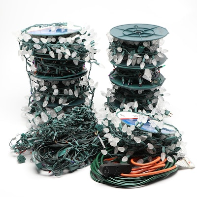 General Electic LED and Other Christmas Lights with Extension Cords