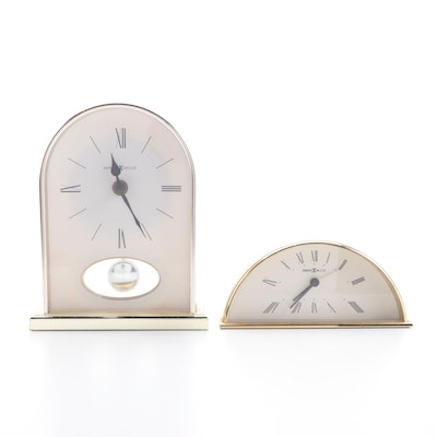 Howard Miller Mantle and Alarm Clocks, Mid to Late 20th Century