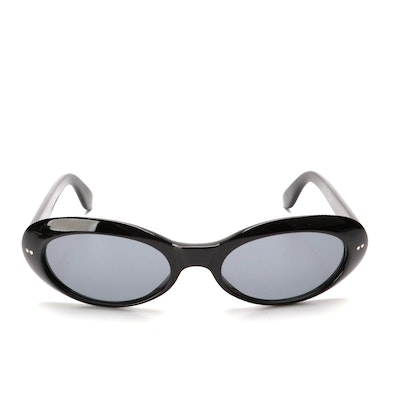 Gucci GG 2413/N/S Oval Sunglasses in Black with Case