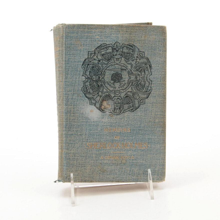 """First American Edition, Second Issue """"Memoirs of Sherlock Holmes,"""" 1894"""