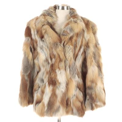 Fox Fur Coat with Lapel Collar