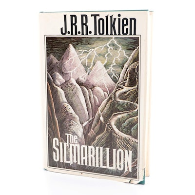 """First American Edition """"The Silmarillion"""" by J. R. R. Tolkien, 1977"""