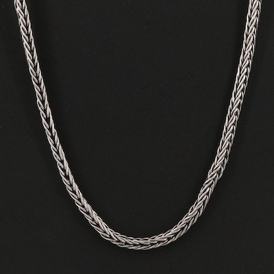 950 Silver Foxtail Chain Necklace