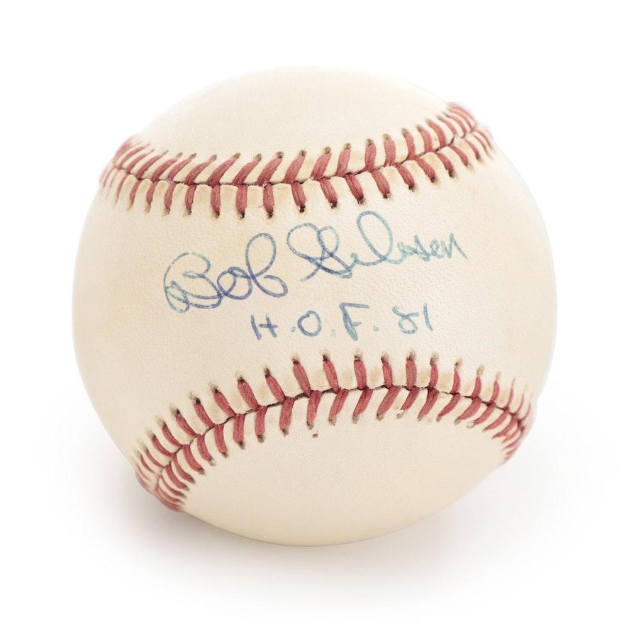 Bob Gibson Signed Rawlings National League Baseball, JSA COA