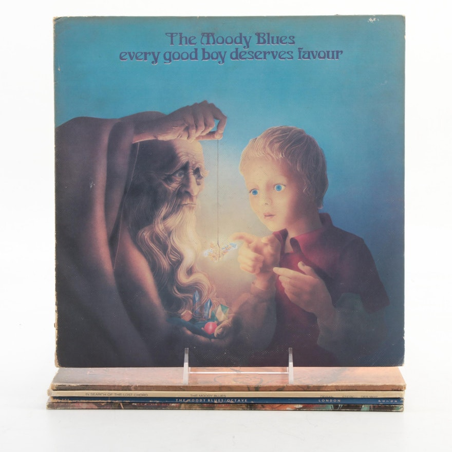 """The Moody Blues """"Octave"""", """"A Question Of Balance"""", Other Vinyl LP Record Albums"""