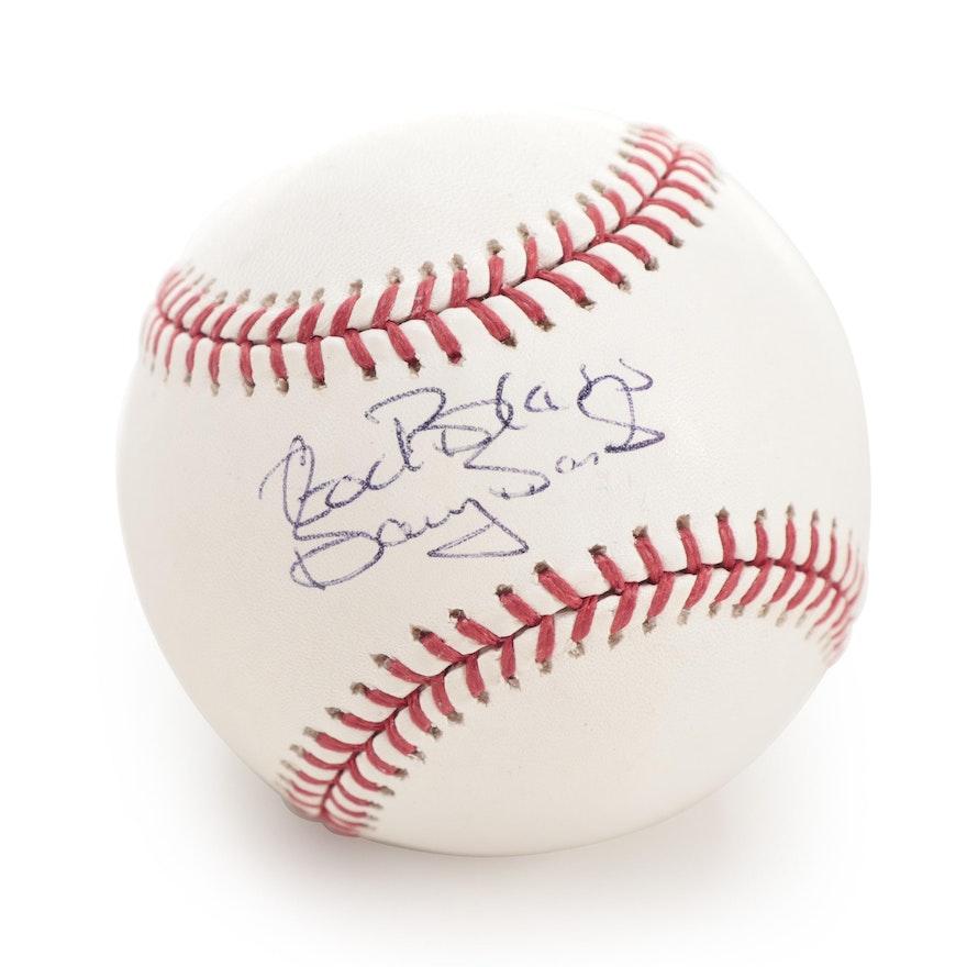 """Barry Bonds Signed """"God Bless"""" Rawlings Major League Baseball, JSA COA"""