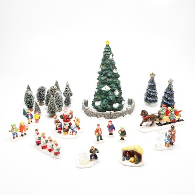 """Department 56 """"Heritage Village,"""" """"Snow Village,"""" and More Christmas Figurines"""
