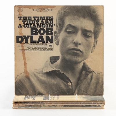 """Bob Dylan """"Nashville Skyline"""", """"Bob Dylan"""", Other Vinyl LP Record Albums"""
