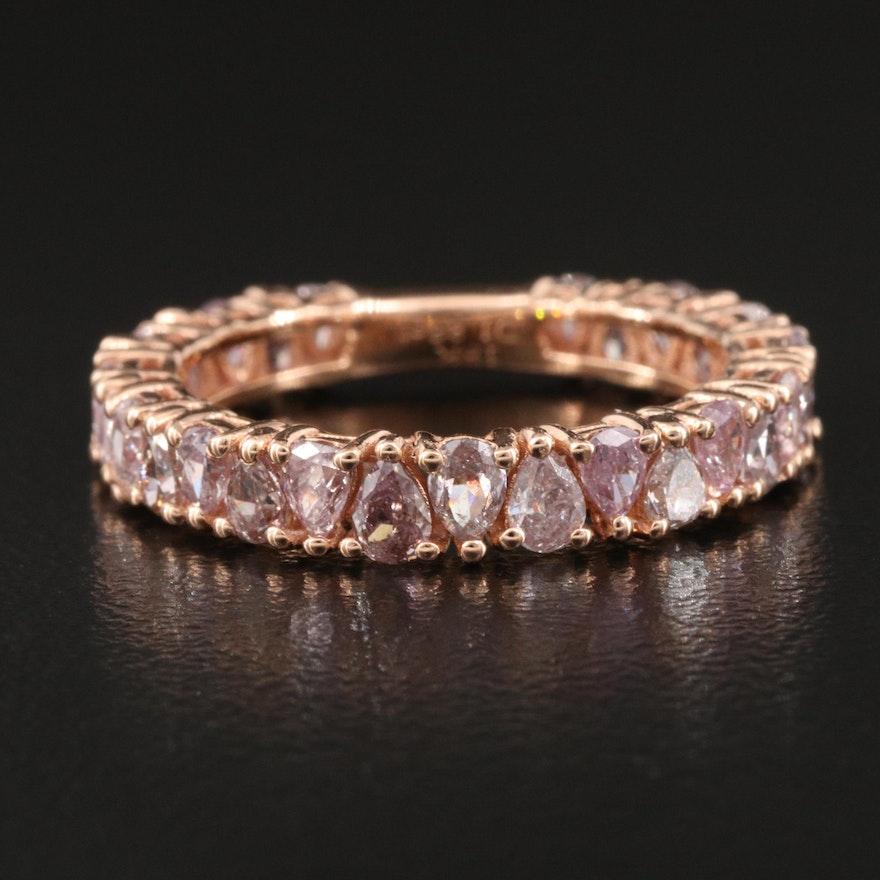 18K Rose Gold 1.86 CTW Diamond Band