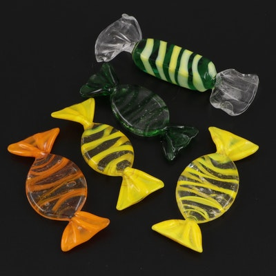 Blown Art Glass Candy Figurines