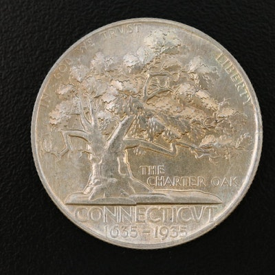 1935 Connecticut Tercentenary Commemorative Silver Half Dollar
