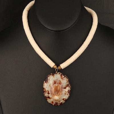 Shell Stationary Pendant Necklace
