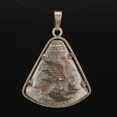 Griffin Intaglio Pendant with 900 Silver Frame