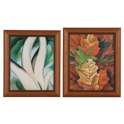 Offset Lithographs of Abstracted Vegetal Motifs