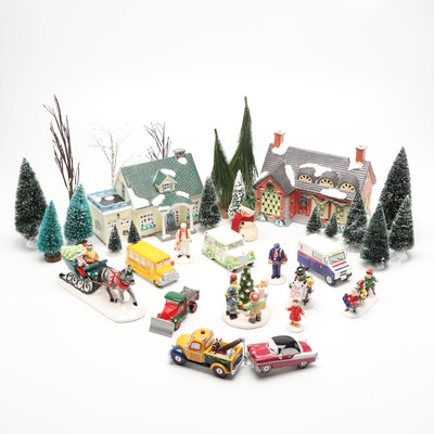 Department 56 Christmas Village Landscape Set and Figurines
