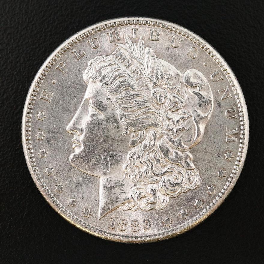 Better Date Low Mintage 1889-S Morgan Silver Dollar