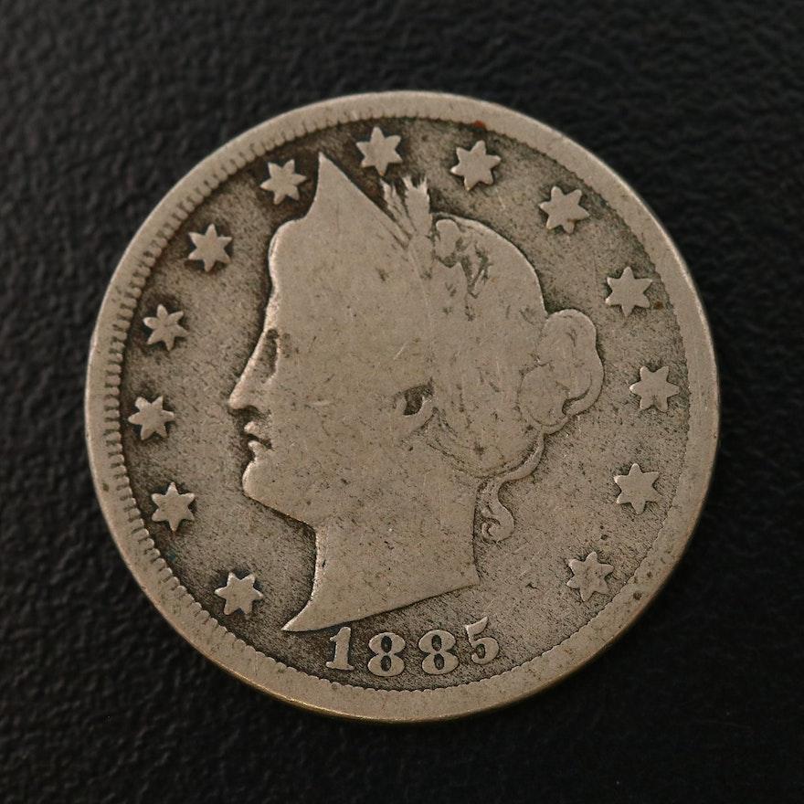 "Key Date 1885 Liberty Head ""V"" Nickel"